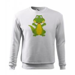 Obrázek Mikina Essential - Veselá zvířátka - Krokodýl, vel. 12 let - bílá