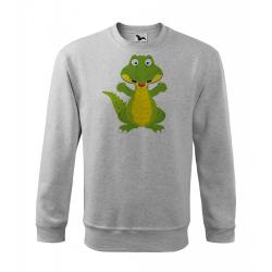 Obrázek Mikina Essential - Veselá zvířátka - Krokodýl, vel. 12 let - šedý melír
