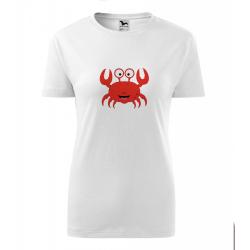 Obrázek Dámské Tričko Classic New - Veselá zvířátka - Krabík, vel. S , bílá