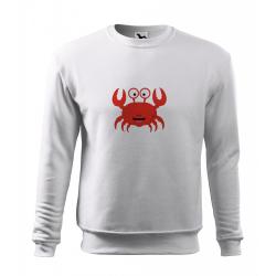 Obrázek Mikina Essential - Veselá zvířátka - Krabík, vel. 12 let - bílá