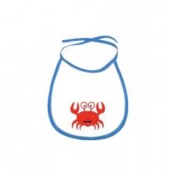 Obrázek Dětský bryndák Veselá zvířátka - Krabík - modrý