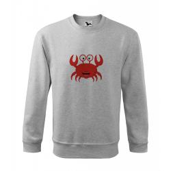 Obrázek Mikina Essential - Veselá zvířátka - Krabík, vel. 12 let - šedý melír
