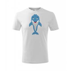 Obrázek Dětské Tričko Classic New - Veselá zvířátka - Delfínek, vel. 6 let , bílá