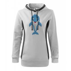 Obrázek Mikina Kangaroo - Veselá zvířátka - Delfínek, vel. XL , bílá