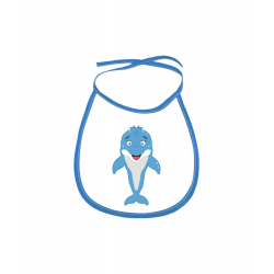 Obrázek Dětský bryndák Veselá zvířátka - Delfínek - modrý