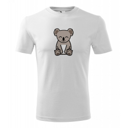 Obrázek Pánské Tričko Classic New - Tučňák a jeho kamarádi - #14 koala medvídkovitý, vel. S , bílá