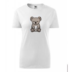 Obrázek Dámské Tričko Classic New - Tučňák a jeho kamarádi - #14 koala medvídkovitý, vel. S , bílá