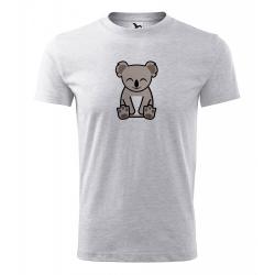 Obrázek Pánské Tričko Classic New - Tučňák a jeho kamarádi - #14 koala medvídkovitý, vel. S , šedý melír