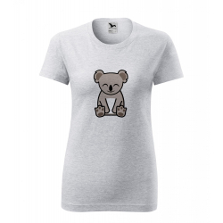 Obrázek Dámské Tričko Classic New - Tučňák a jeho kamarádi - #14 koala medvídkovitý, vel. S , šedý melír