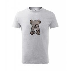 Obrázek Dětské Tričko Classic New - Tučňák a jeho kamarádi - #14 koala medvídkovitý, vel. 6 let - šedý melír