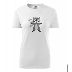 Obrázek Dámské Tričko Classic New - Veselá zvířátka - Mýval, vel. S , bílá