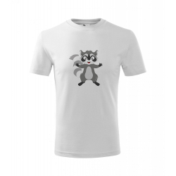 Obrázek Dětské Tričko Classic New - Veselá zvířátka - Mýval, vel. 6 let , bílá
