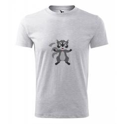 Obrázek Pánské Tričko Classic New - Veselá zvířátka - Mýval, vel. S , šedý melír