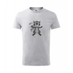 Obrázek Dětské Tričko Classic New - Veselá zvířátka - Mýval, vel. 6 let , šedý melír