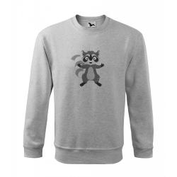 Obrázek Mikina Veselá zvířátka - Mýval, vel. 12 let , šedý melír