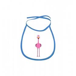 Obrázek Dětský bryndák Veselá zvířátka - Plameňák - modrý