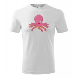 Obrázek Pánské Tričko Classic New - Veselá zvířátka - Chobotnička, vel. S , bílá