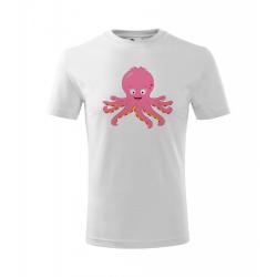 Obrázek Dětské Tričko Classic New - Veselá zvířátka - Chobotnička, vel. 6 let , bílá