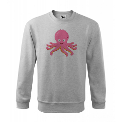 Obrázek Mikina Essential - Veselá zvířátka - Chobotnička, vel. S - šedý melír