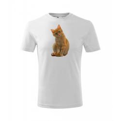 Obrázek Dětské Tričko Classic New - Malovaná zvířátka - Kočička, vel. 6 let - bílá