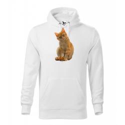 Obrázek Pánská Mikina Cape - Malovaná zvířátka - Kočička, vel. M , bílá