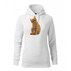 Obrázek Dámská Mikina Cape - Malovaná zvířátka - Kočička, vel. M , bílá