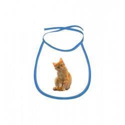 Obrázek Dětský bryndák Malovaná zvířátka - Kočička - modrý