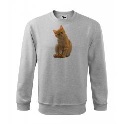 Obrázek Mikina Essential - Malovaná zvířátka - Kočička, vel. 12 let , šedý melír