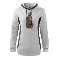 Obrázek Mikina Kangaroo - Malovaná zvířátka - Králíček, vel. M - bílá
