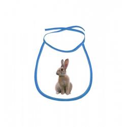 Obrázek Dětský bryndák Malovaná zvířátka - Králíček - modrý