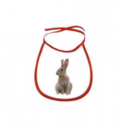 Obrázek Dětský bryndák Malovaná zvířátka - Králíček - červený