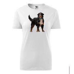 Obrázek Dámské Tričko Classic New - Malovaná zvířátka - Pejsek, vel. S , bílá