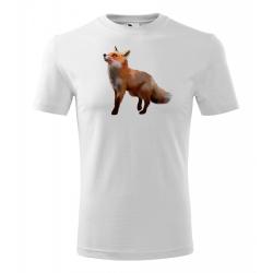 Obrázek Pánské Tričko Classic New - Malovaná zvířátka - Liška, vel. S - bílá