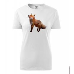 Obrázek Dámské Tričko Classic New - Malovaná zvířátka - Liška, vel. S - bílá