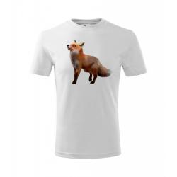 Obrázek Dětské Tričko Classic New - Malovaná zvířátka - Liška, vel. 6 let - bílá