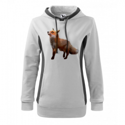 Obrázek Mikina Kangaroo - Malovaná zvířátka - Liška, vel. M , bílá