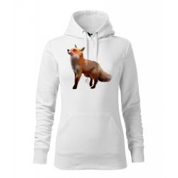 Obrázek Dámská Mikina Cape - Malovaná zvířátka - Liška, vel. M - bílá