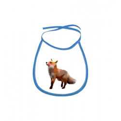 Obrázek Dětský bryndák Malovaná zvířátka - Liška - modrý