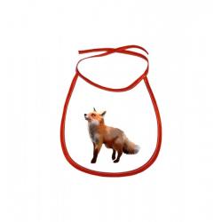 Obrázek Dětský bryndák Malovaná zvířátka - Liška - červený