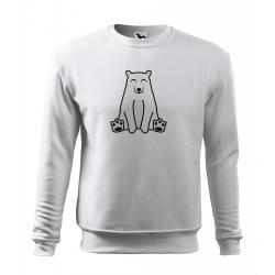 Obrázek Mikina Essential - Tučňák a jeho kamarádi - #13 medvěd lední, vel. 12 let , bílá