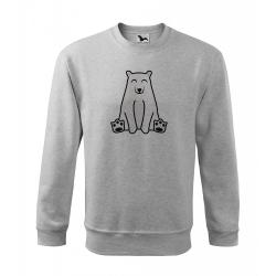 Obrázek Mikina Essential - Tučňák a jeho kamarádi - #13 medvěd lední, vel. 12 let , šedý melír