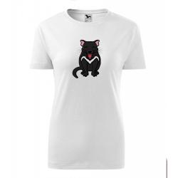 Obrázek Dámské Tričko Classic New - Tučňák a jeho kamarádi - #17 ďábel medvědovitý, vel. S , bílá