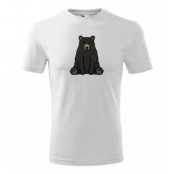 Obrázek Pánské Tričko Classic New - Tučňák a jeho kamarádi - #18 medvěd baribal, vel. S - bílá