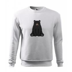 Obrázek Mikina Essential - Tučňák a jeho kamarádi - #18 medvěd baribal, vel. 12 let , bílá