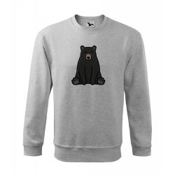 Obrázek Mikina Essential - Tučňák a jeho kamarádi - #18 medvěd baribal, vel. 12 let , šedý melír
