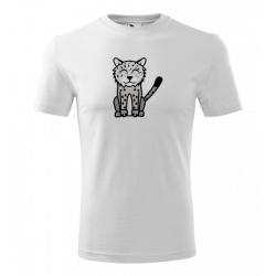 Obrázek Pánské Tričko Classic New - Tučňák a jeho kamarádi - #20 levhart sněžný, vel. S , bílá