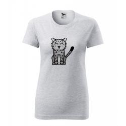 Obrázek Dámské Tričko Classic New - Tučňák a jeho kamarádi - #20 levhart sněžný, vel. M , šedý melír