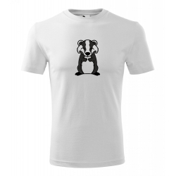 Obrázek Pánské Tričko Classic New - Tučňák a jeho kamarádi - #21 jezevec lesní, vel. S , bílá