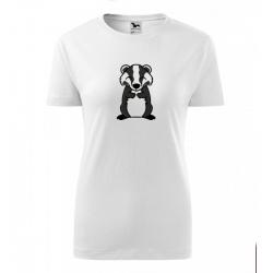 Obrázek Dámské Tričko Classic New - Tučňák a jeho kamarádi - #21 jezevec lesní, vel. S , bílá