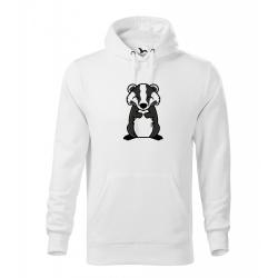 Obrázek Pánská Mikina Cape - Tučňák a jeho kamarádi - #21 jezevec lesní, vel. M , bílá